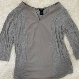 Gray blouse with long sleeves